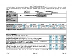 Job Hazard Assessment Form